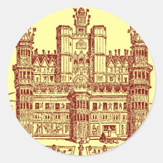 El castillo pegatina redonda