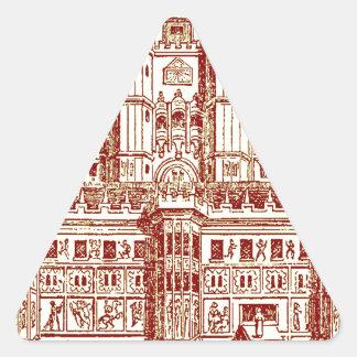 El castillo pegatina triangular