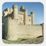 El castillo pegatinas cuadradases