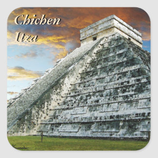 El Castillo Square Sticker