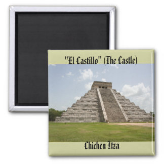 """El Castillo"" (The Castle) at Chichen Itza Magnet"