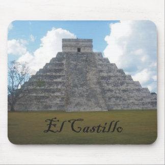 EL Castillo - un símbolo del gran calendario maya Alfombrillas De Ratones
