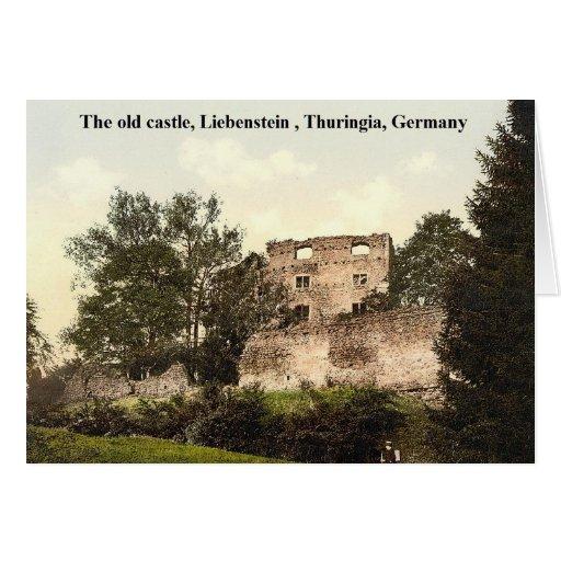 El castillo viejo, Thuringia de Liebenstein, Tarjeta De Felicitación