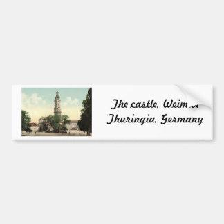 El castillo, Weimar, Thuringia, Alemania Pegatina De Parachoque