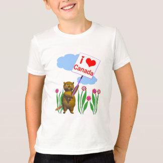 El castor canadiense ama Canadá Playera