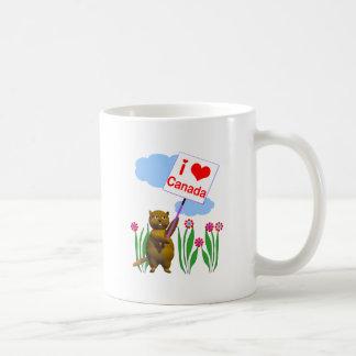 El castor canadiense ama Canadá Taza De Café