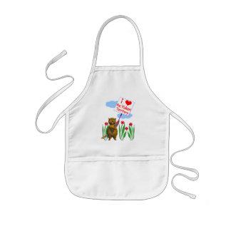 El castor canadiense ama el Yukón Delantal Infantil