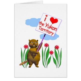 El castor canadiense ama el Yukón Tarjeta De Felicitación
