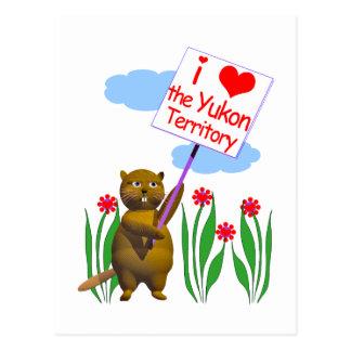 El castor canadiense ama el Yukón Tarjetas Postales