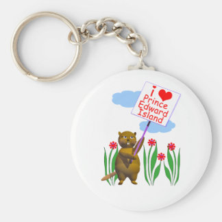 El castor canadiense ama Isla del Principe Eduardo Llavero Redondo Tipo Pin