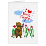 El castor canadiense ama la Columbia Británica Felicitación