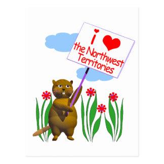 El castor canadiense ama los territorios del postales