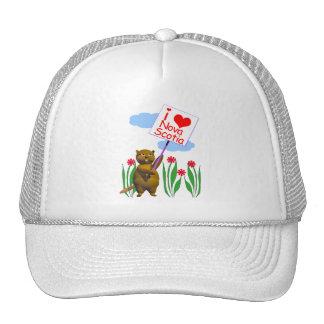 El castor canadiense ama Nueva Escocia Gorras