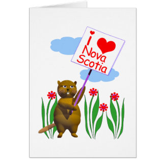 El castor canadiense ama Nueva Escocia Tarjeta De Felicitación