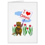 El castor canadiense ama Ontario Felicitacion