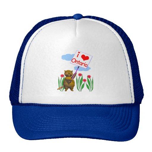 El castor canadiense ama Ontario Gorra