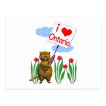 El castor canadiense ama Ontario Postales