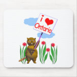 El castor canadiense ama Ontario Alfombrillas De Ratones