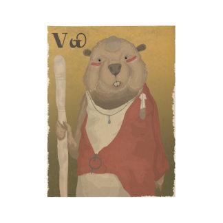 El castor sabio póster de madera