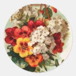 El catálogo de semilla del vintage florece al pega