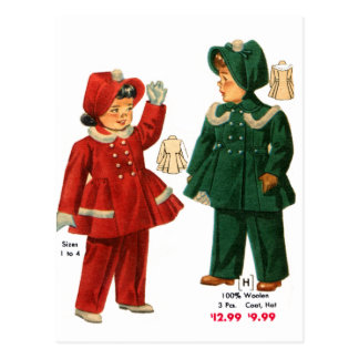 El catálogo retro del kitsch 40s del vintage tarjeta postal