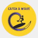 el catchawave, coge una onda pegatinas