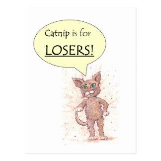 ¡El Catnip está para los perdedores! Postal