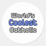 El católico más fresco del mundo pegatina redonda