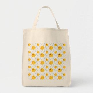 El caucho amarillo adorable Ducks Duckies Bolsa Tela Para La Compra