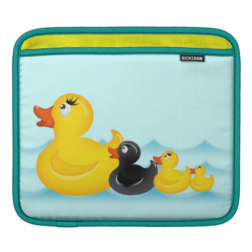 El caucho amarillo de la individualidad Ducks la m Funda Para iPads
