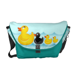 El caucho amarillo Ducks la bolsa de mensajero del Bolsas De Mensajería