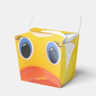 El caucho amarillo Ducks la fiesta de bienvenida Cajas Para Regalos De Boda
