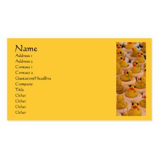 El caucho amarillo Ducks la tarjeta de visita lind