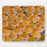 El caucho amarillo fresco Ducks Mousepad divertido Alfombrillas De Ratones