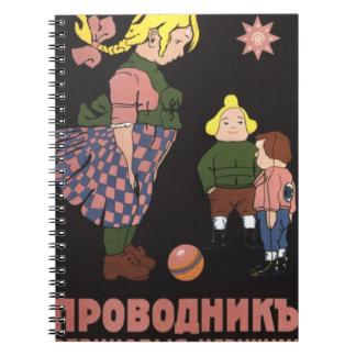 El caucho de Provodnik juega la publicidad rusa de Spiral Notebooks