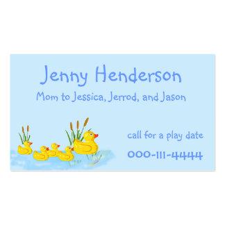 El caucho lindo Ducks la tarjeta de encargo de la  Plantillas De Tarjetas Personales