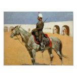 El Cavalryman de la línea, México (1889) de Invitación 10,8 X 13,9 Cm