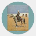 El Cavalryman de la línea, México (1889) de Pegatina Redonda