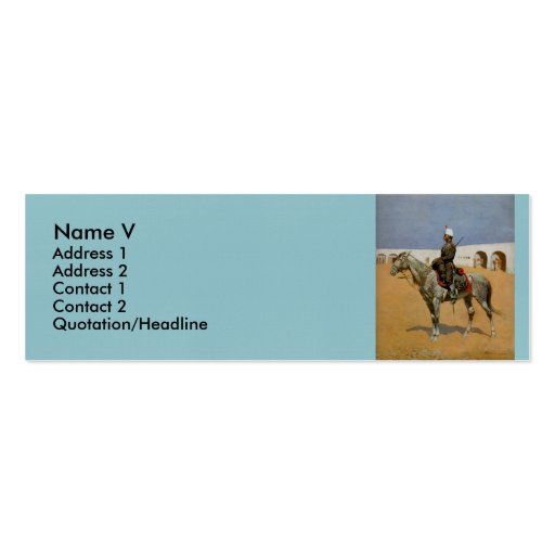 El Cavalryman de la línea, México (1889) de Tarjetas De Visita Mini