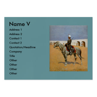 El Cavalryman de la línea, México (1889) de Tarjetas De Visita Grandes