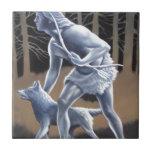 El cazador azulejos