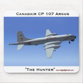 El cazador, cojín de ratón de Canadair CP 107 Argu Alfombrilla De Ratones