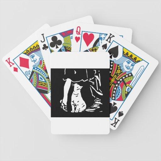 """El cazador """"cosas del gato está mirando para arrib cartas de juego"""