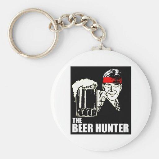 El cazador de la cerveza llavero