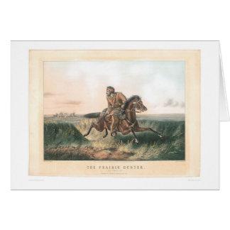 """El cazador de la pradera: """"Uno frotado hacia Tarjeta De Felicitación"""
