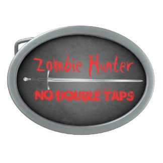 El cazador del zombi ningún doble golpea ligeramen hebilla cinturón