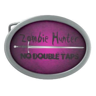 El cazador del zombi ningún doble golpea ligeramen hebilla cinturón oval