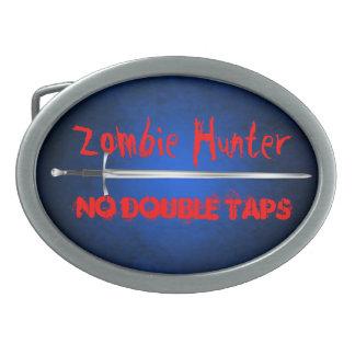 El cazador del zombi ningún doble golpea ligeramen hebilla de cinturón oval
