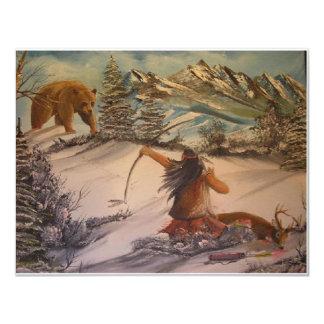 el cazador hace cazado invitación 10,8 x 13,9 cm