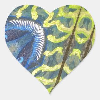 El cazador pegatina en forma de corazón